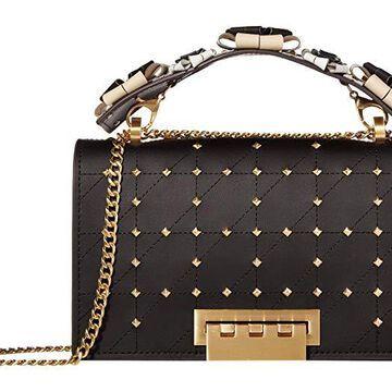 ZAC Zac Posen Earthette Chain Shoulder w/ Floral Feature Handle - Multi (Black) Handbags