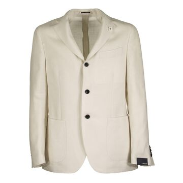 Lardini Two-button Wool And Linen Jacket