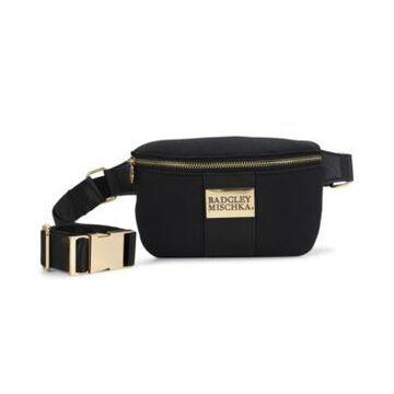 Badgley Mischka Sage Scuba and Vegan Leather Belt Bag