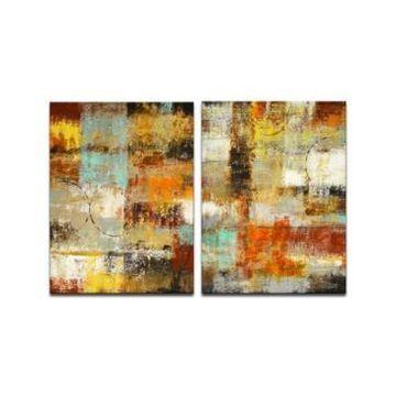 "Ready2HangArt 'Realization' 2 Piece Canvas Wall Art Set, 40x30"""