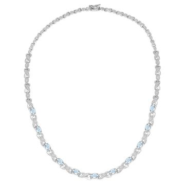 Dolce Giavonna Gemstone and Diamond Accent XO Necklace