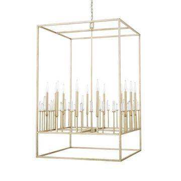 Adira 12-light Winter Gold Foyer Fixture - Winter Gold