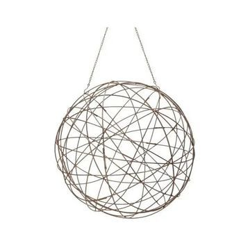 Lazy Susan Aged Iron Wire Sphere, Large