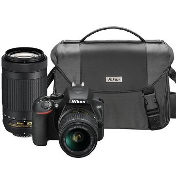 Nikon D3500 24.2MP Bluetooth DSLR Camera with Nikon 18-55mm Nikon 70-300mm Lens and Camera Case