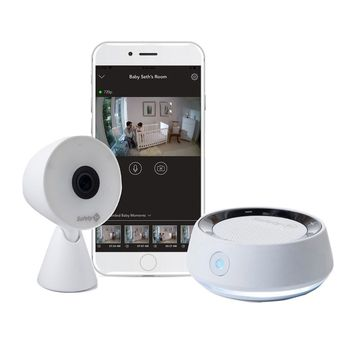 Safety 1st& HD WiFi Baby Monitor with Sound/Movement Detecting Audio Unit in White