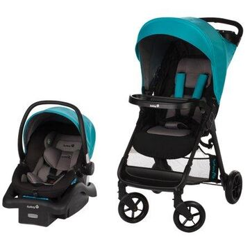 Safety 1st Smooth Ride Travel System with OnBoard 35 LT Infant Car Seat, Lake Blue