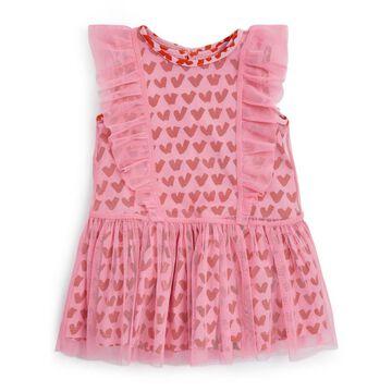 Stella Mccartney Kids Heart Print Tulle Dress (3-36 Months)