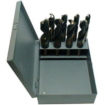 Drill America KFD1008-SET KFD 8 Piece High-Speed Steel Silver and Deming Dril...