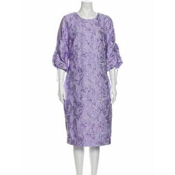 Floral Print Midi Length Dress w/ Tags Purple