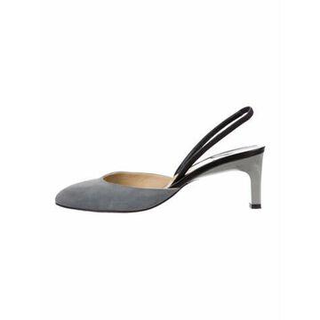 Suede Slingback Sandals Grey