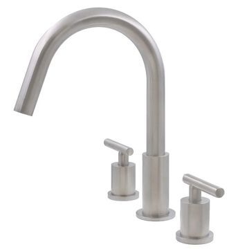 Novatto WALTZ Widespread 2-Handle Lavatory Faucet in Brushed Nickel (Silver)