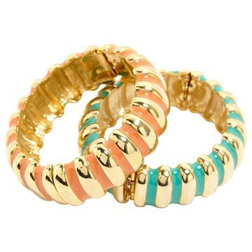 Kenneth Jay Lane Gold Metal Bracelets