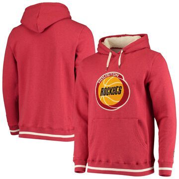 Men's Mitchell & Ness Red Houston Rockets Hardwood Classics Home Stretch Pullover Hoodie