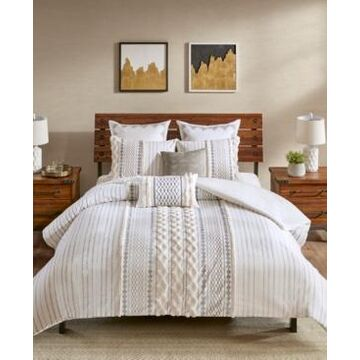 Ink+Ivy Imani 3-Pc. Full/Queen Cotton Duvet Cover Mini Set Bedding