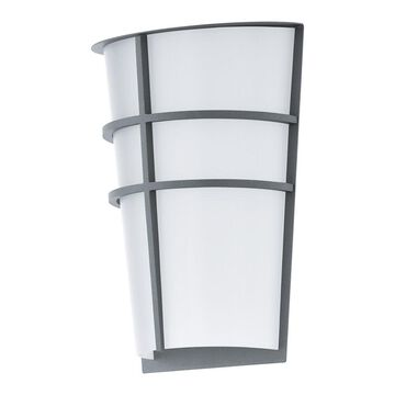 Eglo Breganzo Outdoor Wall Light with Silver Finish