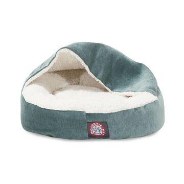 "Majestic Pet 18"" Villa Micro-Velvet Canopy Dog Bed"