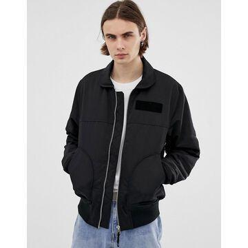 Weekday Ben bomber jacket in black