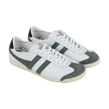 Gola Bullet White Grey Mens Low Top Sneakers