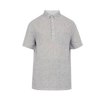 Onia - Josh Striped Linen Shirt - Mens - Navy
