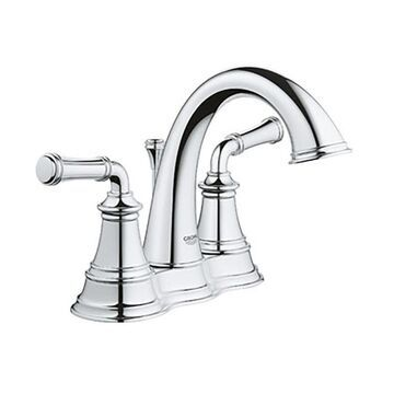GROHE Gloucester Chrome 2-Handle 4-in Centerset WaterSense Bathroom Sink Faucet with Drain