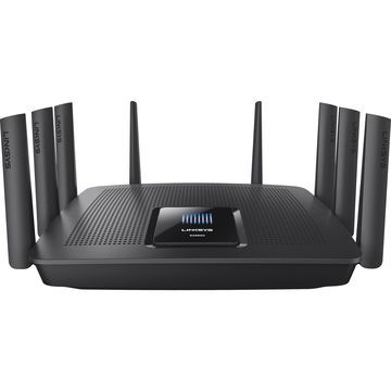Linksys Max-Stream EA9500 IEEE 802.11ac Ethernet Wireless Router - 2.40 GHz ISM Band - 5 GHz UNII Band(8 x External) - 5427.20 Mbit/s Wireless Speed - 8 x Network Port - 1 x Broadband Port - USB - Gigabit Ethernet - Desktop