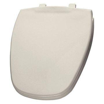 Bemis 1240200 346 Plastic Round Toilet Seat, Biscuit/Linen
