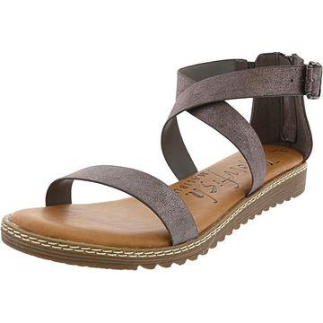 Blowfish Women's Ozone Metallic Faux Leather Ankle-High Sandal