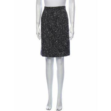 Vintage Knee-Length Skirt Grey