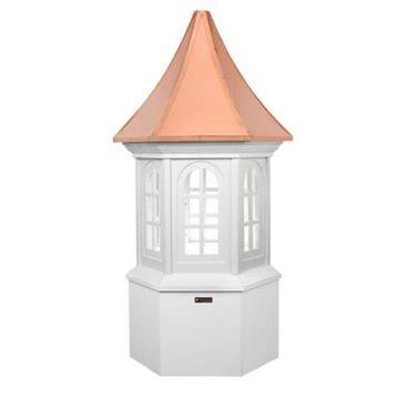 Good Directions Smithsonian Collection Georgetown 67-Inch Cupola in White/Copper