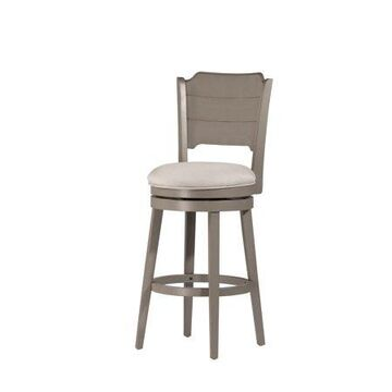 Hillsdale Furniture Clarion Swivel Counter Stool, Distressed Gray