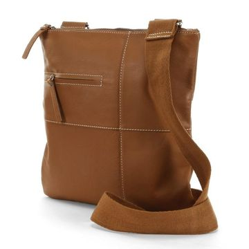 AmeriLeather Slim Leather Crossbody Bag