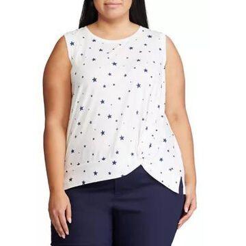 Chaps Women's Plus Size Duval Sleeveless Knit Top - -