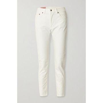 Acne Studios - High-rise Slim-leg Jeans - White