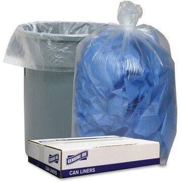 Genuine Joe, GJO29133, Clear Low-density Liners, 100 / Carton, Clear