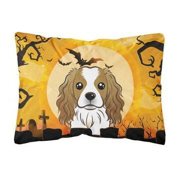 Halloween Cavalier Spaniel Fabric Decorative Pillow