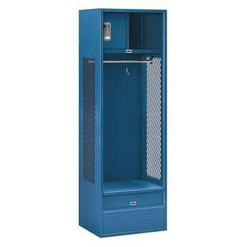 SALSBURY INDUSTRIES 70018BL-U Open Access Locker,24Wx72Hx18''D,Blue