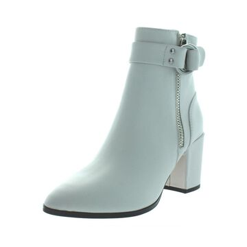 Steven By Steve Madden Womens Johannah Ankle Boots Leather Almond Toe
