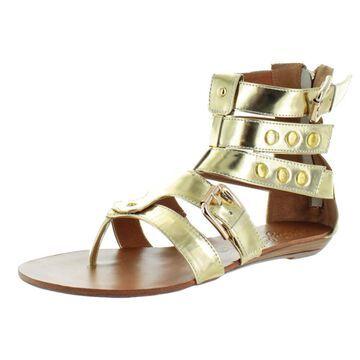 Naughty Monkey Jet Women's Pony Hair Gladiator Sandals