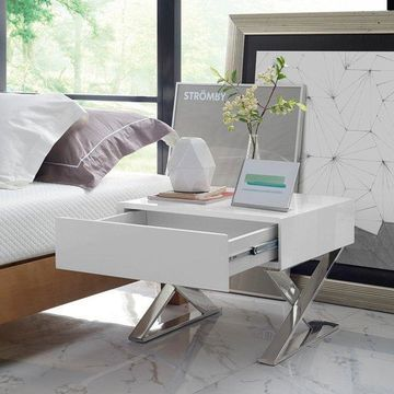 Modway Sector Nightstand, White