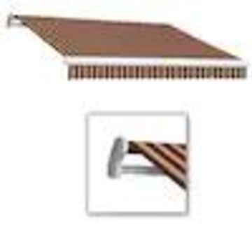 Awntech Maui 96-in Wide x 84-in Projection Striped Vertical Patio Left Motor Retractable Awning