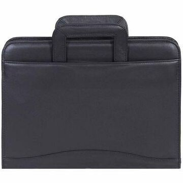 Scully Genuine Leather 3-Ring Zip Binder with Drop Handles, 96Z-11-24-F