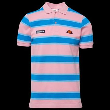Ellesse Marono Polo Shirt - Light Pink / Blue