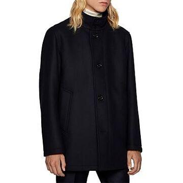 Boss Coxtan Virgin Wool-Cashmere Coat With Bib