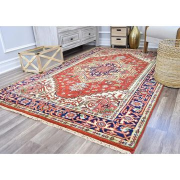 Royal Heriz Red Traditional Wool Handknotted Area Rug by Rugs America