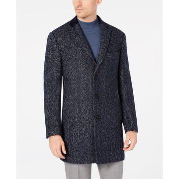 Men's Slim-Fit Herringbone Overcoat