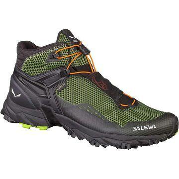 Salewa Men's Ultra Flex GTX Mid Boot - 7 - Cactus/Fluo Orange