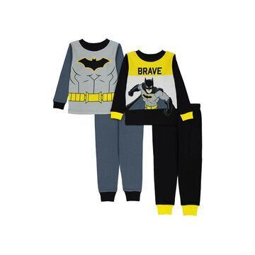 Batman Toddler Boys Pajama, 4 Piece Set