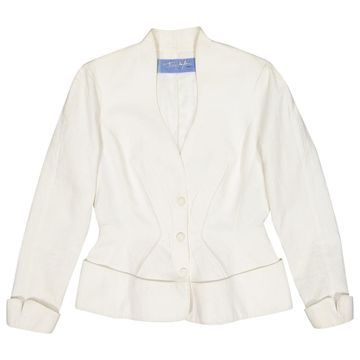 Thierry Mugler White Cotton Jackets