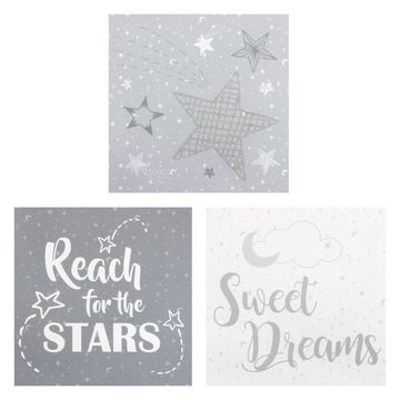 Trend Lab Moon and Stars 3-Pc. Canvas Wall Art