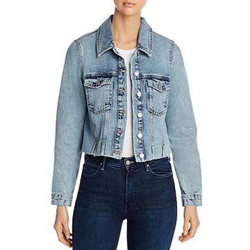 Vero Moda Cropped Jean Jacket in Light Blue